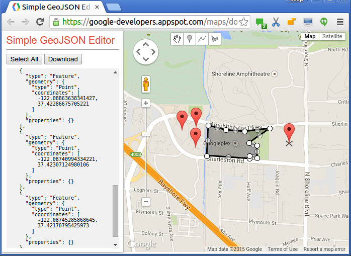 Create interactive maps with googles new data layers gumiabroncs Choice Image