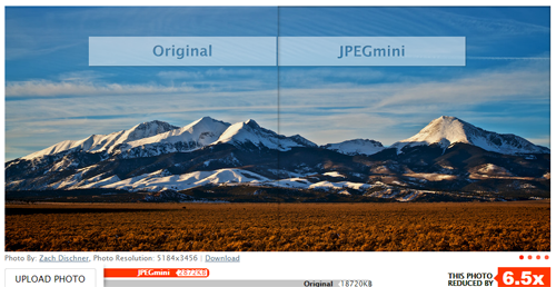 Example of JPEGmini in action.