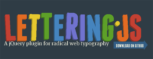 lettering jquery plugin web fonts