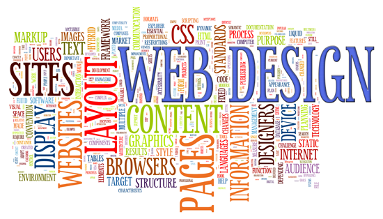 Website Design Aspects Affecting SEO web design word cloud