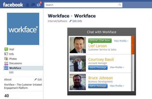 Online Engagement Comes to Facebook with Workface