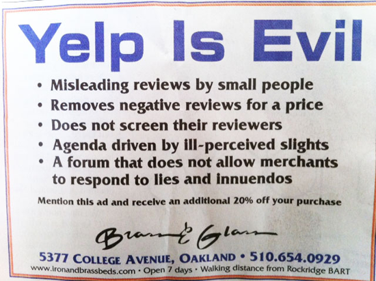 yelp is evil