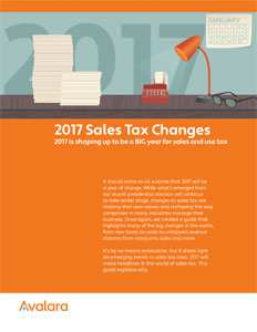 2017 Sales Tax Changes