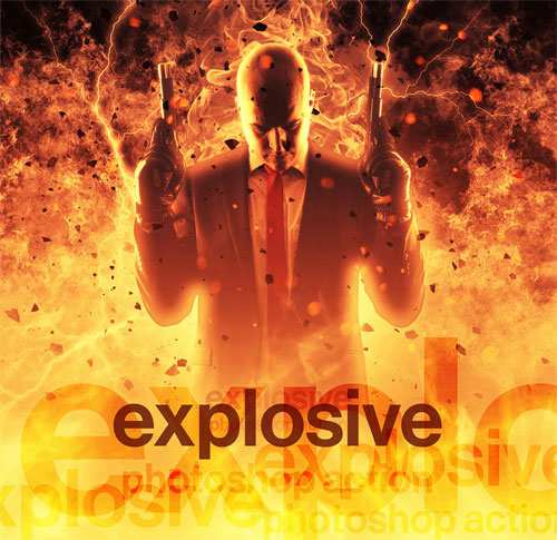Explode Photoshop Action