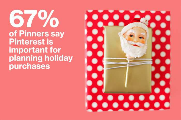 "67% of Pinners use Pinterest to plan for ""all things holiday"""