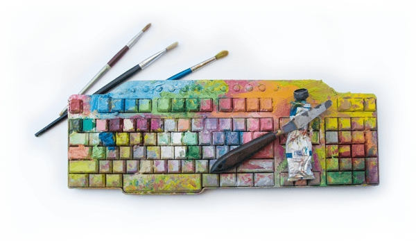 painted-keyboard